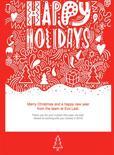 Clean Red Template With Holiday Icons Holiday Email Template