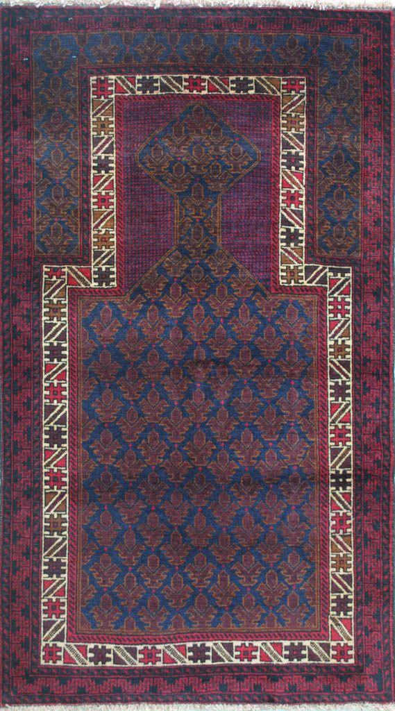 Handmade Woolen Carpet BELUTCH 0,91 x 1,50 cm | ioakeimidis