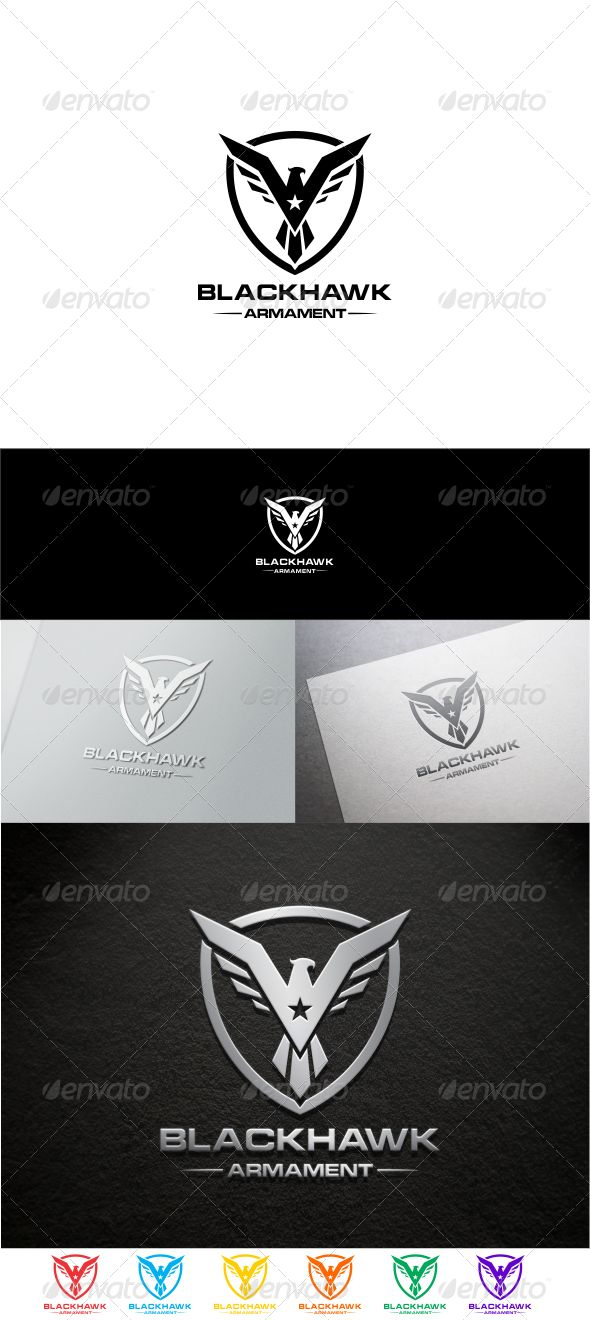 Black Hawk Logo Design Template Vector #logotype Download it here: http://graphicriver.net/item/black-hawk/8422334?s_rank=141?ref=nexion