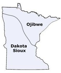 *The Dakota Sioux tribe  http://www.native-languages.org/dakota.htm http://www.native-languages.org/dakota.htm#language  *The Ojibwe tribe (also known as Chippewa, Ojibway, or Ojibwa)  http://www.native-languages.org/chippewa.htm   http://www.native-languages.org/ojibwe.htm#language  http://www.native-languages.org/ojibwe_guide.htm show the pronunciation for the Ojibwe orthography