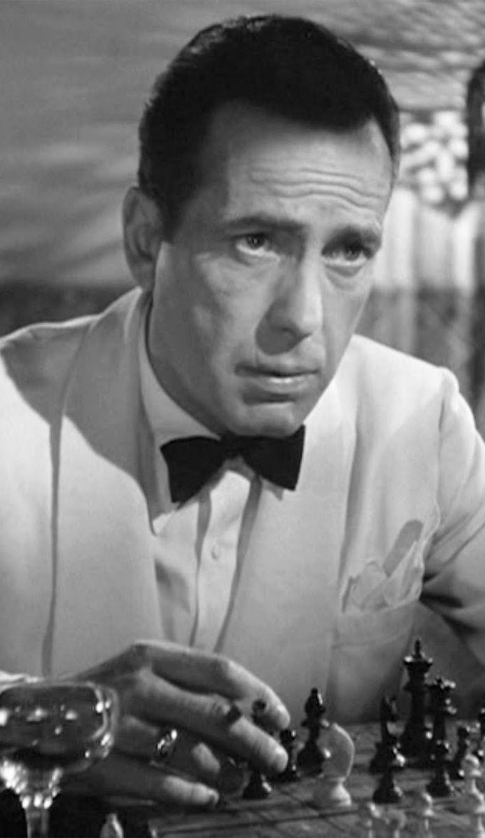 Humphrey Bogart as Rick Blaine -  Casablanca (Michael Curtiz, 1943)