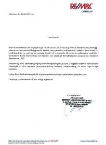 Referencje | Biuro rachunkowe Warszawa-Targówek Śródmieście Wola
