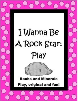 """This 8 page """"I Wanna Be a Rock Star"""" play by The Teacher Next Door is an original one I wrote for my class. It is filled with excellent scientific information about rocks and minerals, including sedimentary, igneous, and metamorphic types, fossils, Moh's Scale of Hardness and more. Even better, it is one that the kids love to perform and is a true crowd pleaser! $"""
