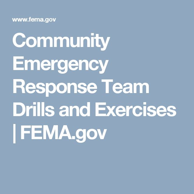 Community Emergency Response Team Drills and Exercises | FEMA.gov
