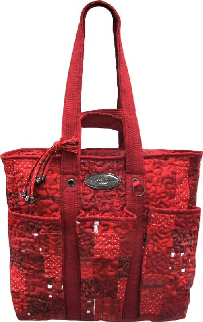 Donna Sharp Utility Bag in Lipstick Patch: A multifunctional tote with lots of storage
