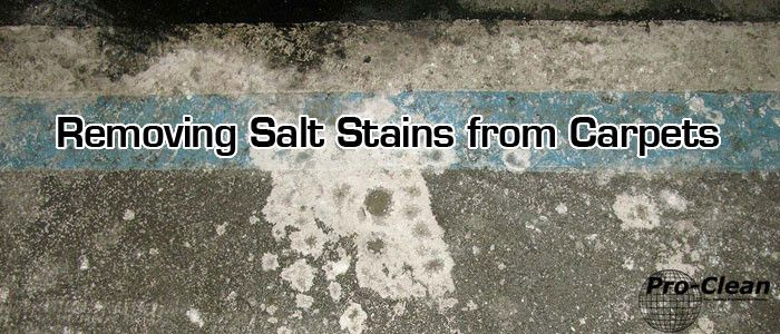 Remove salt stains from your company carpets - http://www.pro-clean.ca/removing-salt-stains-carpets/