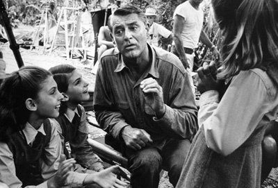 """Cary Grant on the set of """"Mother Goose."""""""