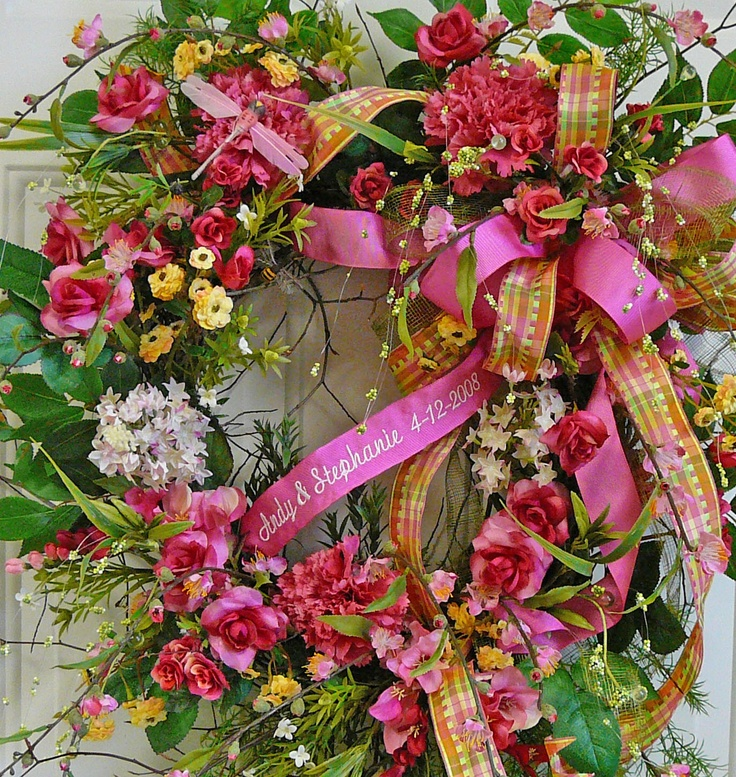 Wedding, Valentine Wreath. I can see this on our front door for our Valentine Anniversary!