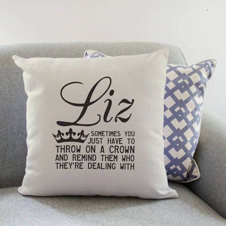 Personalised 'Throw On A Crown' Quote Cushion @notonthehighst