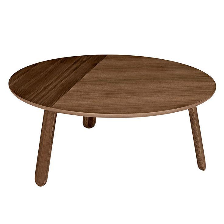top3 by design - Gubi - paper table walnut 80cm