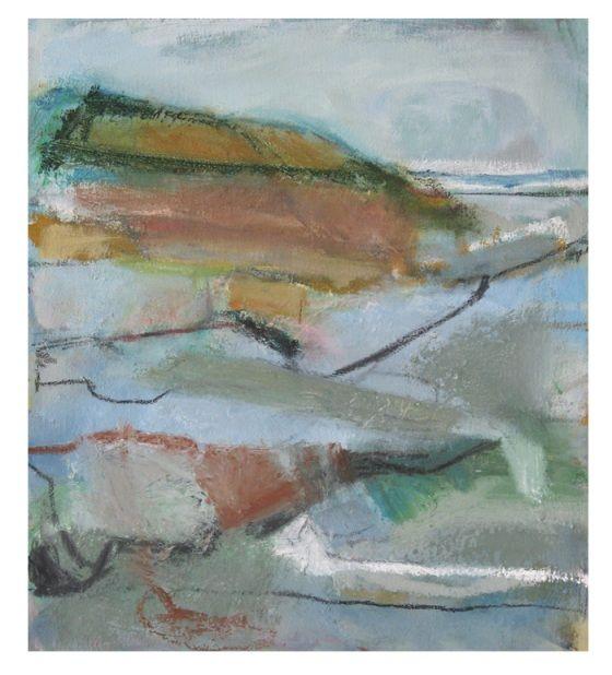 'Scalby Beck, Scarborough', Janine Baldwin, oil & charcoal on canvas, 34 x 30cm  www.janinebaldwin.co.uk