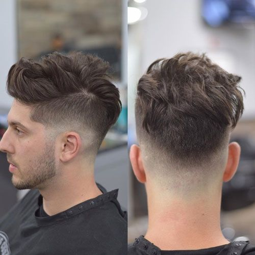 Disconnected Quiff with Low Skin Fade