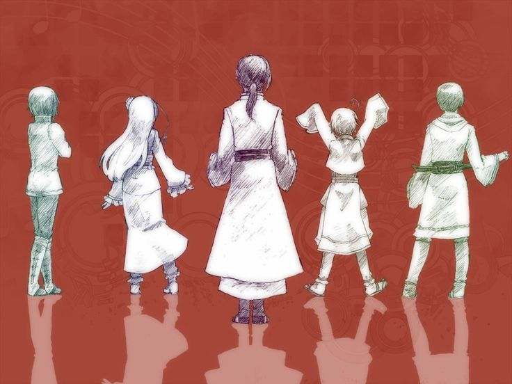 Hetalia - East Asian countries. Artist unknown. If you are the artist or know the artist please let me know so I can credit properly or take this art down from my board if you wish.
