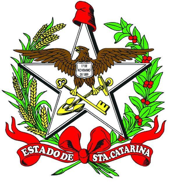 Brasão de armas do Estado de Santa Catarina - SC