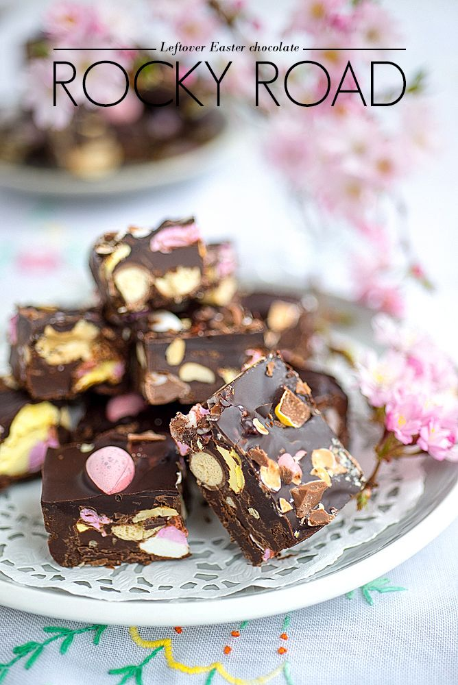 Leftover Easter Chocolate Rocky Road