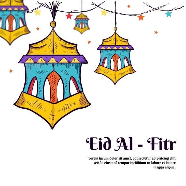 من ناحية رسم فانوس عربي ملون لتزيين رمضان كريم وعيد الفطر رمضان مرسومة باليد مبارك Png والمتجهات للتحميل مجانا Idul Fitri