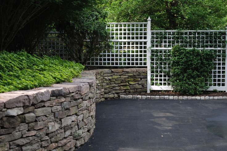 Wood And Stone Fence Designs Stone Retaining Wall A