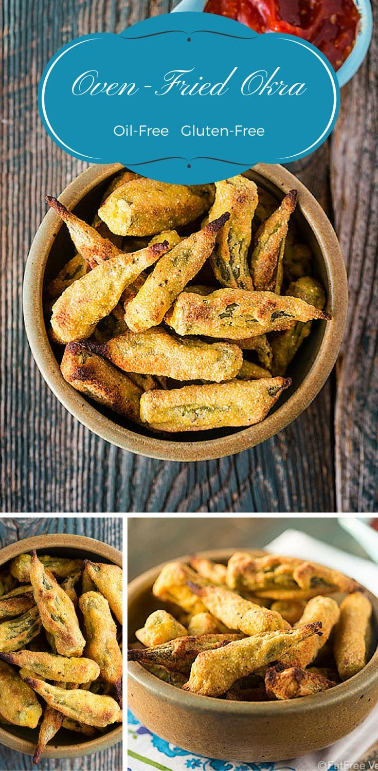 Oil-Free Gluten-Free Oven Fried Okra