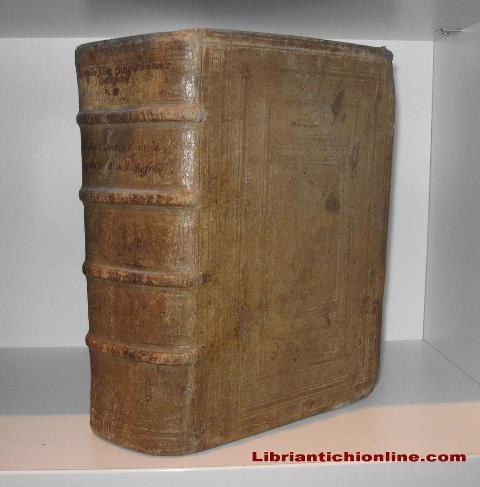 legatura in pelle di scrofa (primi anni del XVII secolo - Corpus juris civilis ediz. 1604) - www.libriantichionline.com
