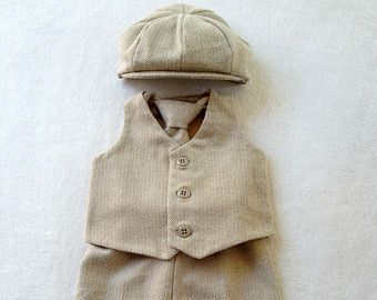 Ring Bearer Outfit Baby Boy First Birthday by fourtinycousins