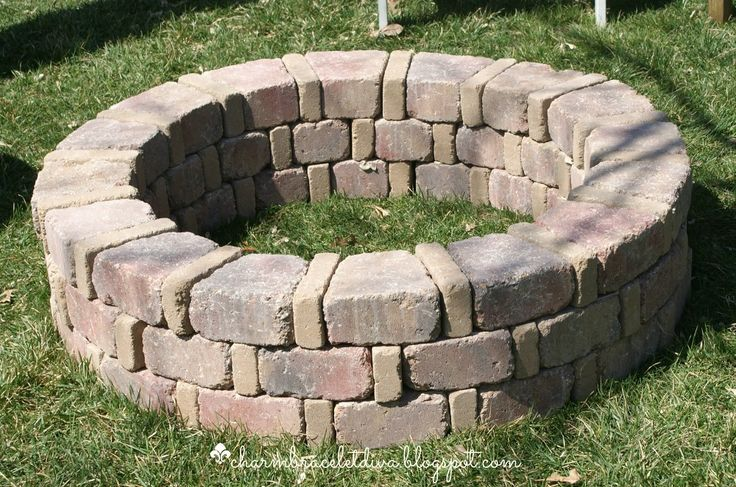 How To Built A Fire Pit For Under $75 | Hometalk--and this one is way bigger than mine!