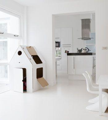 Living with kids.: Interior, White Kitchen, Kid Playhouse, Inspiration, Kids Playroom, Kids Room, Kids Playhouse, Kidsroom, Cardboard Playhouse