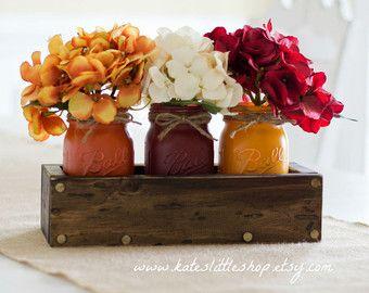 Jardinera rústica caja con 3 pintada masón por LacyBellesBoutique