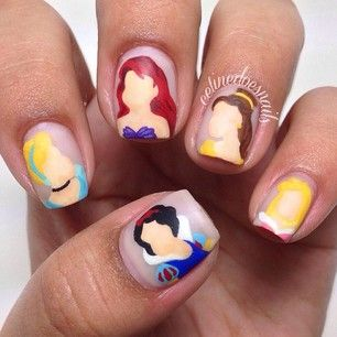 The Disney crowd: | 26 Incredibly Detailed Nail Art Designs  One of my favourites from the list!