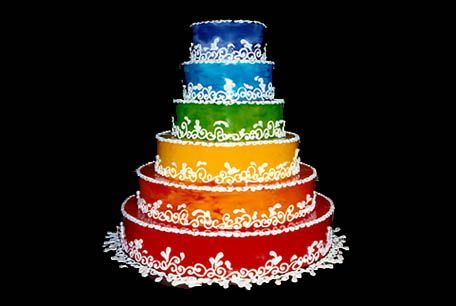 CAKE AND ART - The Edible Art Experience - Rainbow cake!
