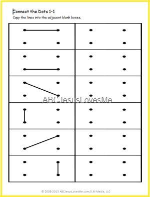 Printable dot grid imitation worksheets, progressively more difficult.