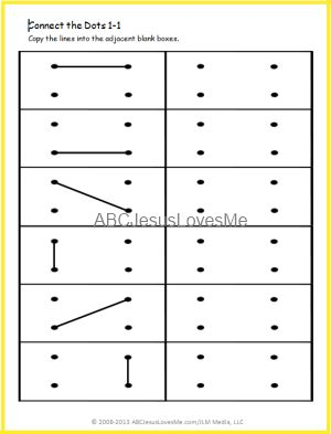 Printable worksheets for visual perception: color matching, connect the dots, copy, cutting, drawing, matching, pattern, tracking