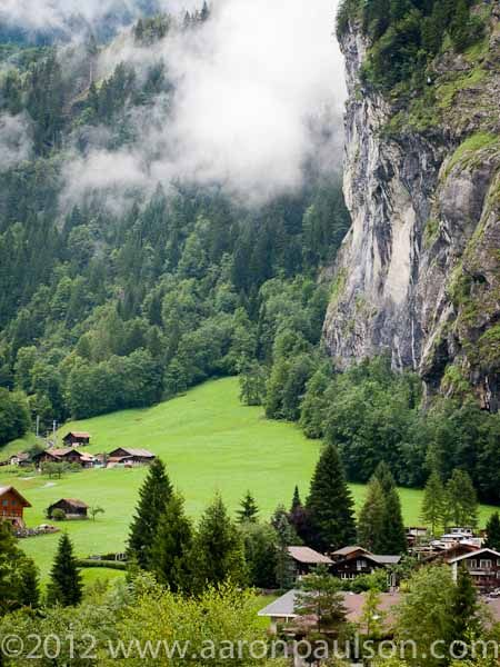 european idyllic landscape: dramatic! Lauterbrunnen Valley ...