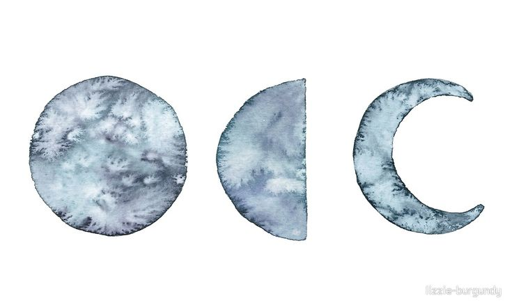 Watercolor Moon Phases von lizzie-burgundy