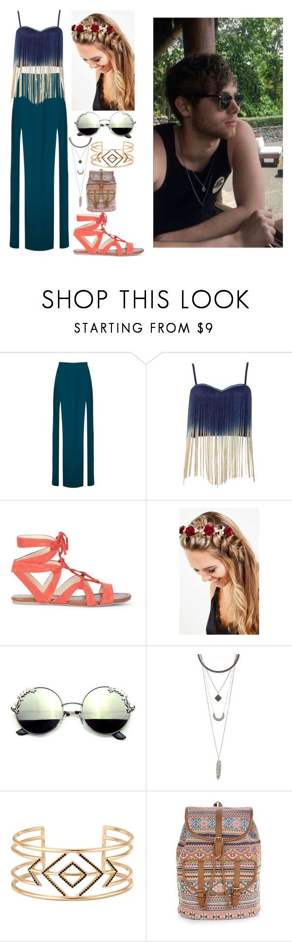 """""""Samantha Sellinger Coachella with Luke"""" by psycho-alien-deer05 ❤ liked on Polyvore featuring Topshop, Rare London, Sole Society, Johnny Loves Rosie, Charlotte Russe, Stella & Dot and Accessorize"""