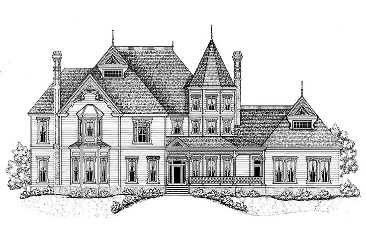 Queen anne house plan with 7747 square feet and 5 bedrooms for One story queen anne