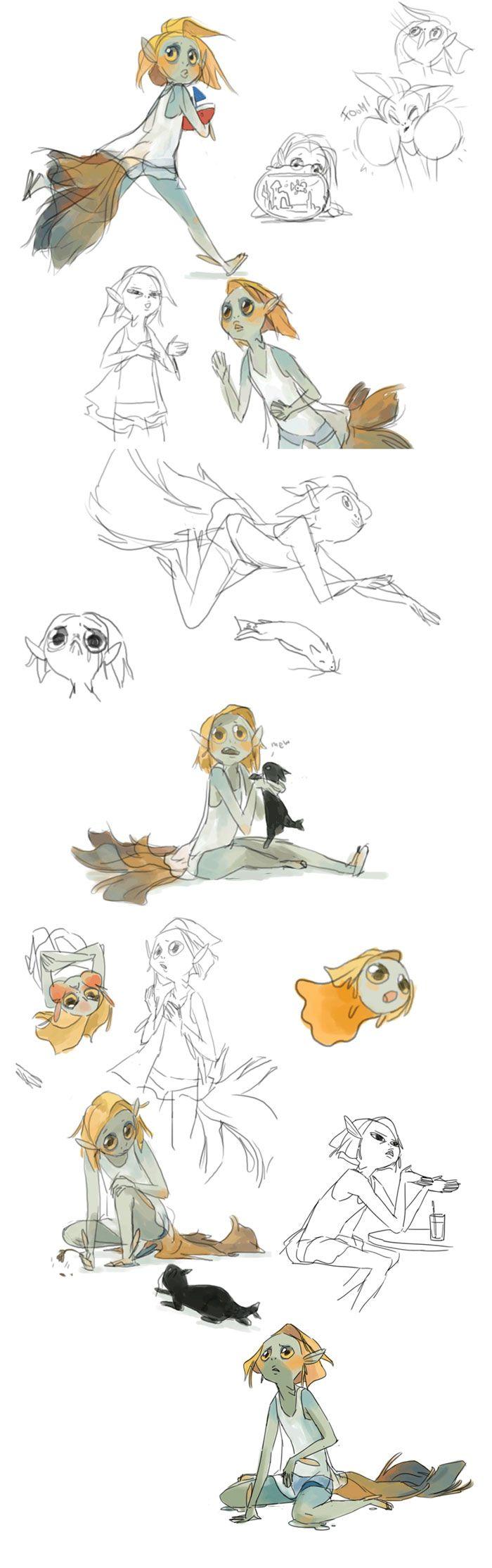 Character Design References Website : Art by evon freeman website evonyo tumblr