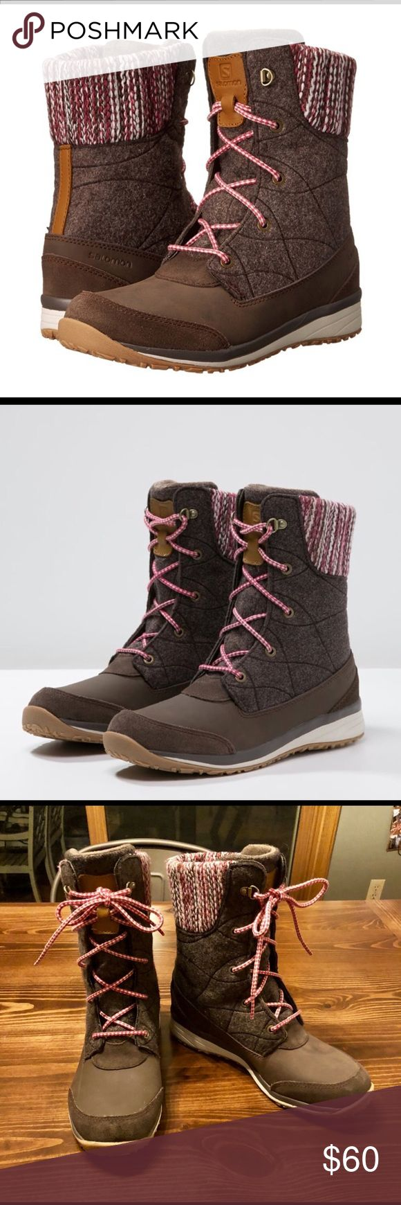 Salomon hime winter boot Only worn a couple times, like new condition. Waterproof Salomon Shoes Winter & Rain Boots