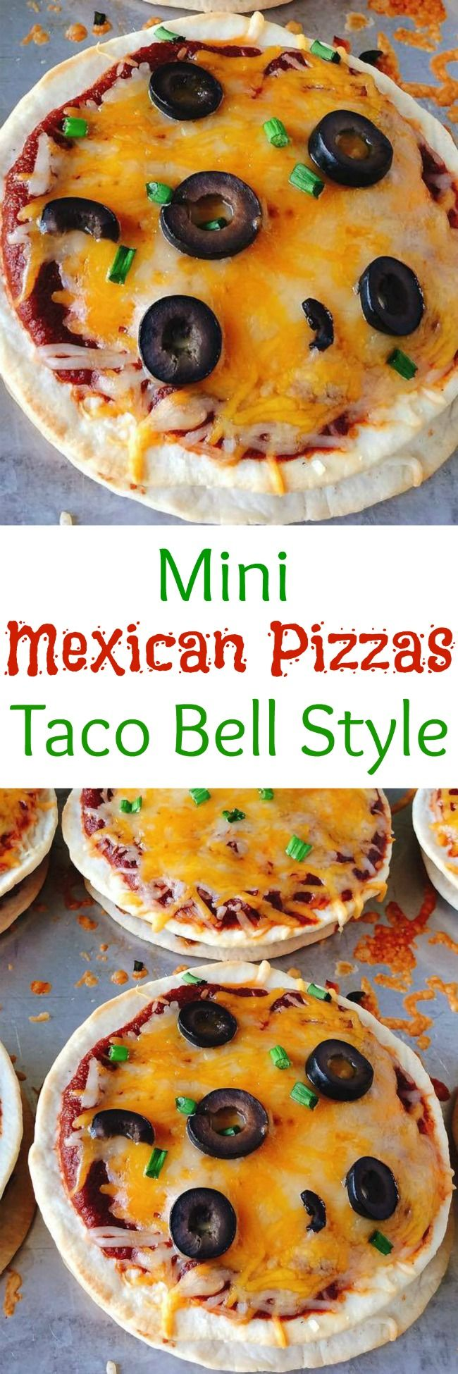 A recipe for homemade Mini Mexican Pizzas: Taco Bell Style. Just like the original only better because they are homemade!