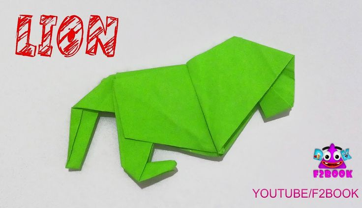 Lion Origami instructions || How to make origami lion || F2BOOK Video #156