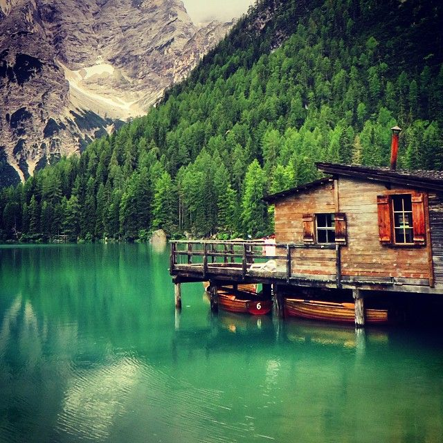 Lakehouse At Lake Braies In Italy. Photo Courtesy Of My Great Escapes On  Instagram.