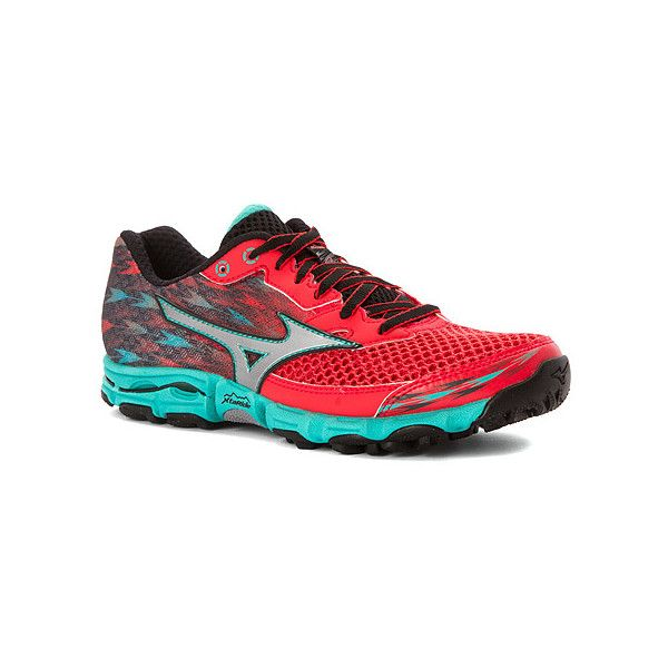 Mizuno Wave Hayate 2 ($110) ❤ liked on Polyvore featuring shoes, athletic shoes, women, mizuno, mesh shoes, mesh running shoes, mizuno footwear and mizuno shoes