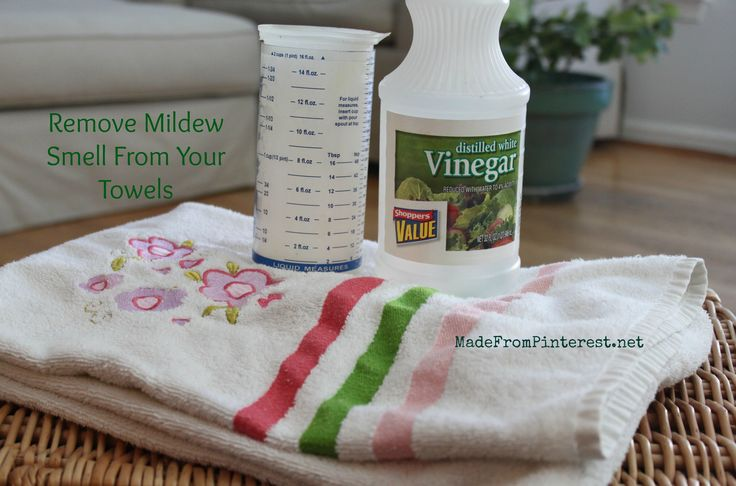 Remove Mildew Smell From Towels http://www.madefrompinterest.net/2013/01/remove-mildew-smell-from-towels/