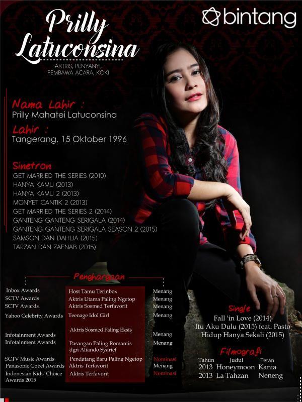 Saat ini, semua orang seolah mengagumi sosok Prilly Latuconsina. Dia memiliki paras cantik dan menggemaskan serta beragam prestasi. Yuk simak profil lengkapnya pada infografis berikut. #PrillyLatuconsina #Aktris #CelebBio #Bintang #Indonesia