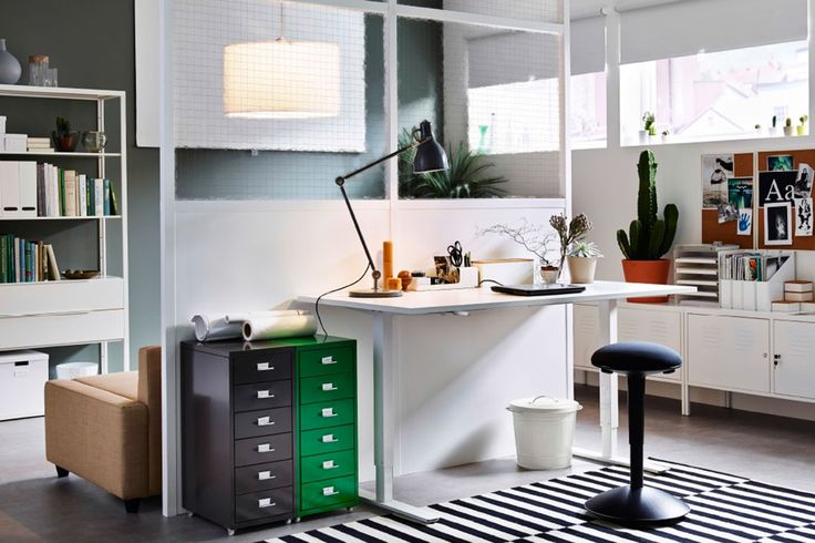 Interior: Gorgeous Bright Home Office Colors Combo With White And Orange Painting Ideas For Wall And Ceiling Lacquered Wooden Floor Design Small Wooden Desk With Computer And Office Chair from 5 Tips to Design Inspiring Home Office Ideas