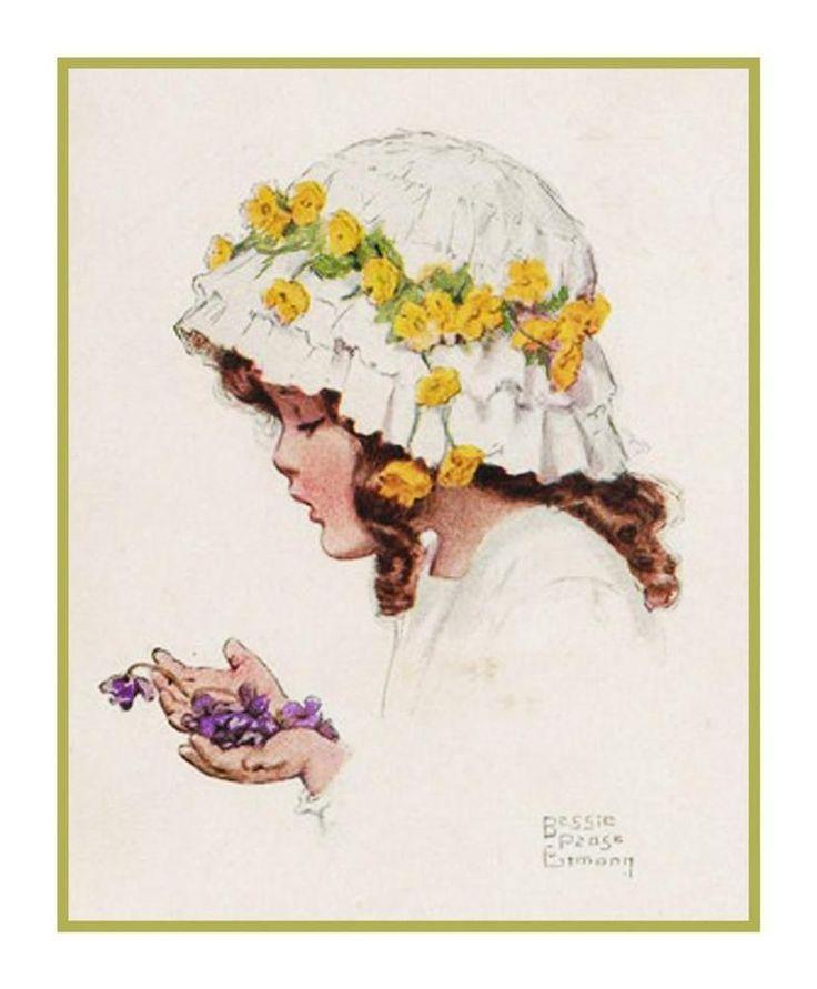 Бесси Пиз Гутман Baby Girl цветок шляпка счетным крестом крестиком | Рукоделие, Вышивка и вязание, Вышивание и вышивка крестиком | eBay!