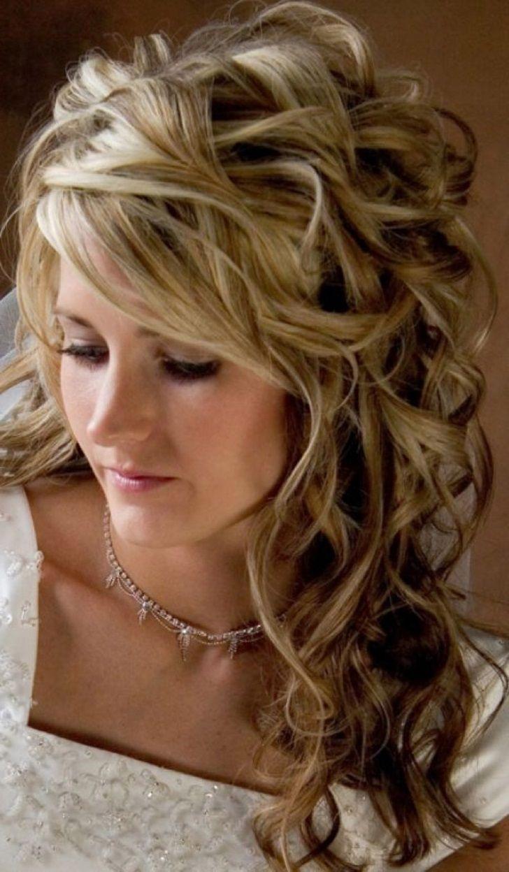 Wedding Hair Half Up Down Loose Curls Messy