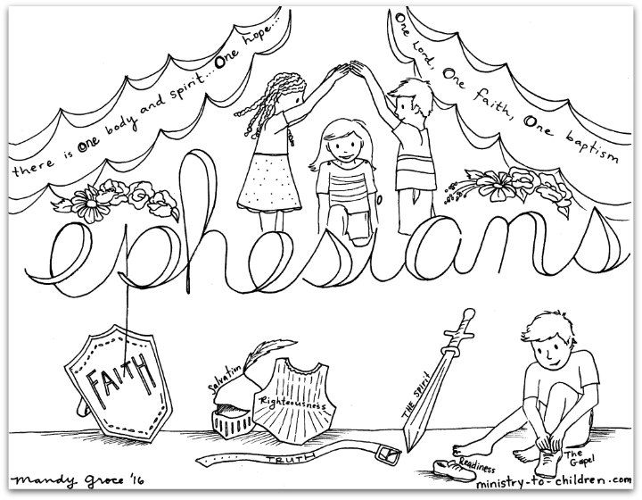 ephesians bible book coloring page - Amish Children Coloring Book Pages