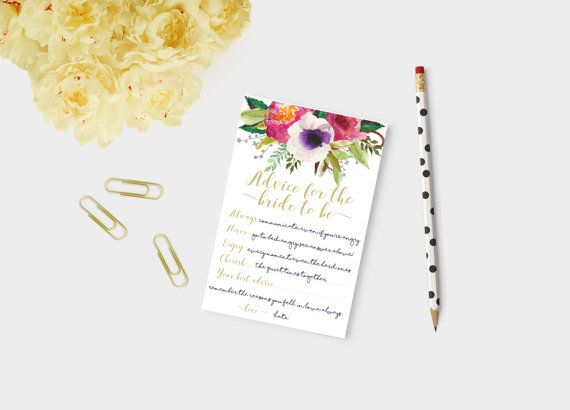 Advice for the bride bride to be advice shower by Papierscharmants