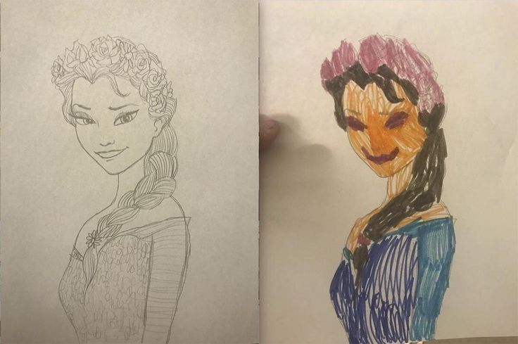 This Colored Picture Of Elsa From Frozen