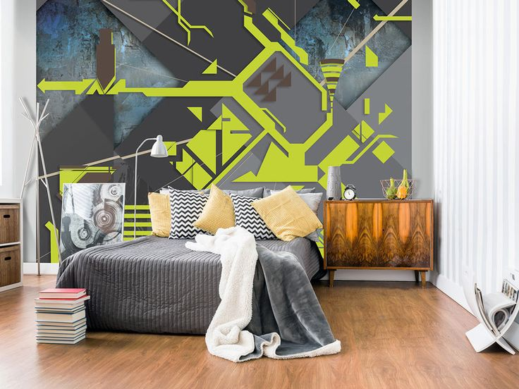 Modern wallpaper not only for teen room - looks great also in nordic and retro interior!